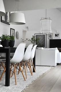 Lichte vloer Scandinavisch interieur