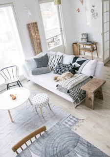 Wit Scandinavisch interieur