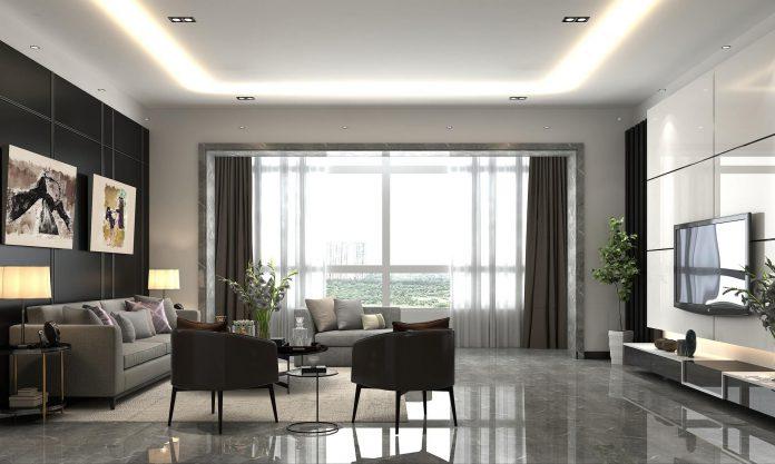 Strakke, rechte lijnen kenmerken de moderne woning
