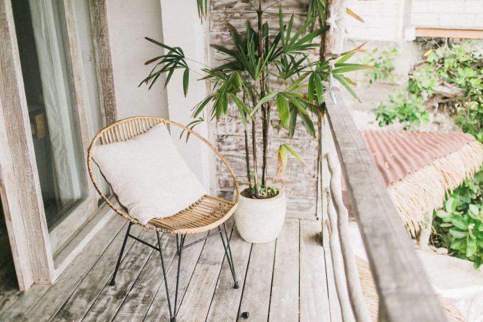 Landelijk wonen in een houten huis